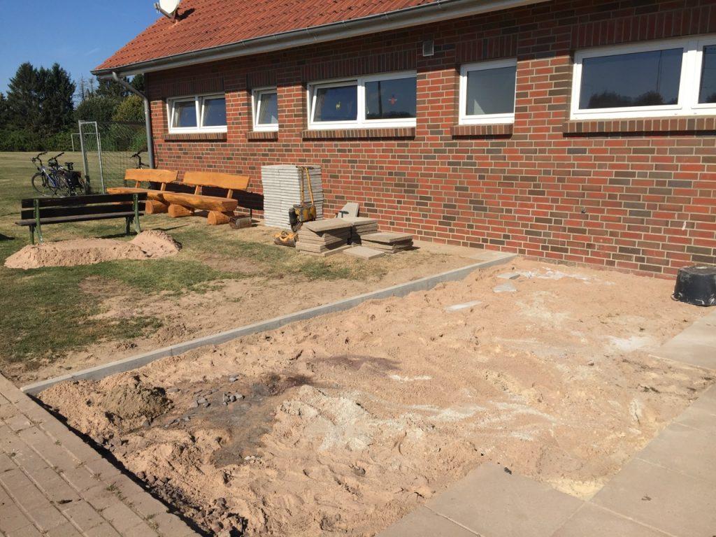 Bauarbeiten-Kabinenvorplatz